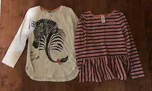 4 long sleeved tops and vest- inc Gymboree Mexx