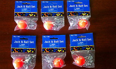 Games And Toys (2 Sets of Metal Jacks and Ball - Classic Game - Birthday Party Give-A-Way)