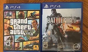 PS4 Grand Theft Auto V and Battlefield 4