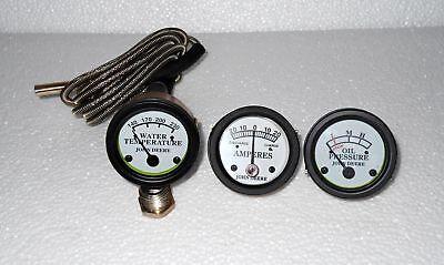 John Deere Tractor Oil Pressure Ammeter Temp Gauge Set Fit In 506070520530