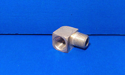 Solid Brass Street Pipe 90 Degree Elbow 1/8 Inch Male Female NPT Air Fuel Water