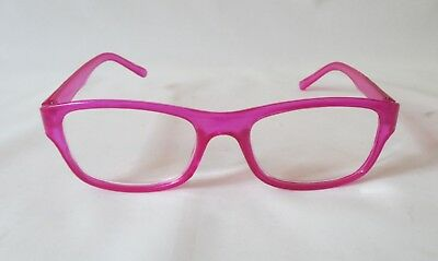 Hot Pink Clear Frame Readers ~ Fun Fashion Reading Glasses ~ Various Strengths (Clear Frame Readers)