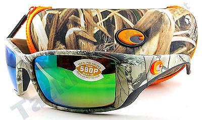 Costa BL69OGMP Blackfin Sunglasses 580P Green Mirror Lens Realtree Xtra Camo