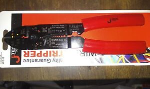 Jetech-Electric-Electrician-8-Wire-Stripper-CRIMPER-cutter-Pliers-WS-8-RED