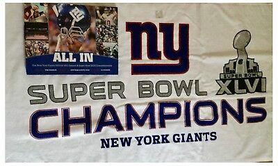 Super Bowl XLVI NFL New York Giants Hologram Programme, Towel & Book Set Bundle