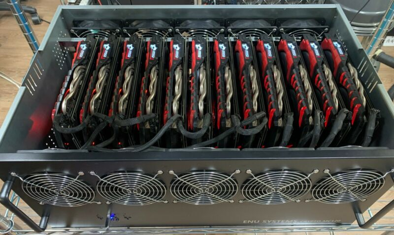 MSI RadeonRX 580 Gaming X 8GB12 GPU Mining Rig (330-360 MH/s) ETH ETC XMR ZCash