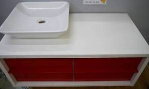 Ex Display RF Arte 900 Wall Hung Bathroom Vanity Red Drawers Melbourne CBD Melbourne City Preview