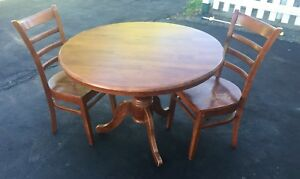 Solid hardwood Table and Chairs