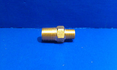 Solid Brass Hex Adapter Fitting Reducer 18 Male 14 Male Npt Air Fuel Water