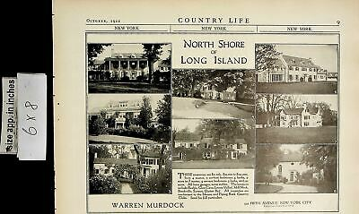 1922 North Shore Long Island W Murdock Houses for Sale Vintage Print Ad 6561