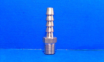Solid Brass Barb Fitting 14 Hose Id 18 Male Npt Coupling Air Fuel Water