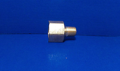 Solid Brass Hex Adapter Fitting Reducer 18 Male 14 Female Npt Air Fuel Water