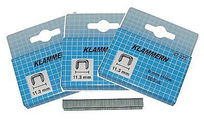 Normex 07-228  3000 Klammern für Schnellnagler, Nagler, Tacker      10 x 11,3 mm