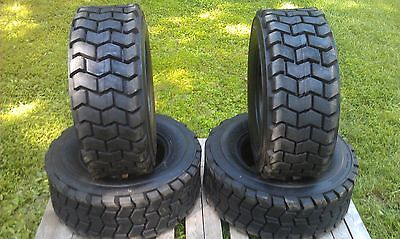 4 New 12-16.5 Skid Steer Tires For Case- 12x16.5 - 14 Ply Rating - Heavy Duty