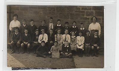 SCHOOL GROUP, BLACKNESS 1919: West Lothian postcard (C26704)