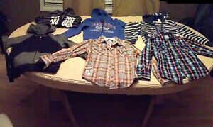 Boy's lot brand name hoodies & 2 Guess shirts  Sizes 6/8, 8-10