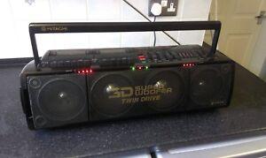 HITACHI SUPER WOOFER TRK-3D80E, Portable Stereo, Boombox, 3D Bass  Twin Drive