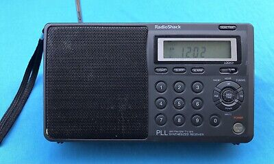 RADIO SHACK PLL AM/FM/SW/TV/WX MULTIBAND SYNTHESIZED PORTABLE RADIO/RECEIVER