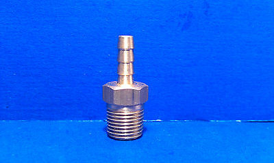 Solid Brass Barb Fitting 18 Hose Id 18 Male Npt Coupling Air Fuel Water