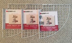 ClosetMaid Corner Shelves (x3) - Brand New (Never Used)