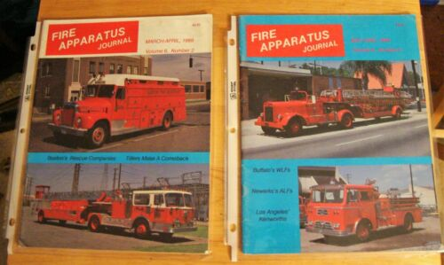 FIRE APPARATUS JOURNAL Magazine 1989 5 issues