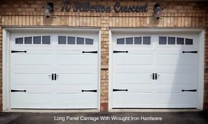8x7 WHITE CARRIAGE GARAGE DOORS ......... $900 INSTALLED
