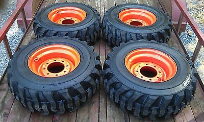 4 New 12x16.5 Skid Steer Tires Wheelsrims For Bobcat - 12-16.5 - 12 Ply -12pr