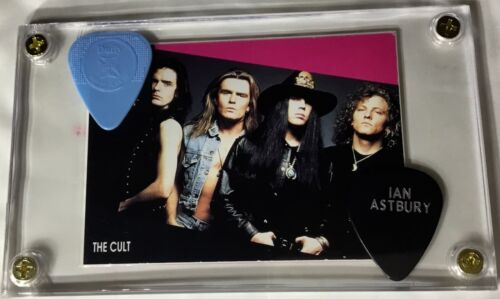 The Cult 90's trading card / Billy Duffy & Ian Astbury guitar pick display!!!