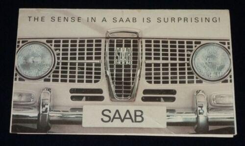 Vintage c.1964 Saab Advertising Brochure - Sedan, Station Wagon, Monte Carlo