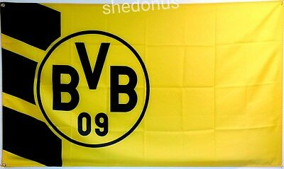 Borussia Dortmund Flag Banner 3 x 5 feet Germany Soccer Yellow and Black - Soccer Banners