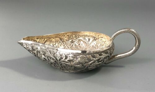 Antique Indian Silver Sauce Boat 115g EZX