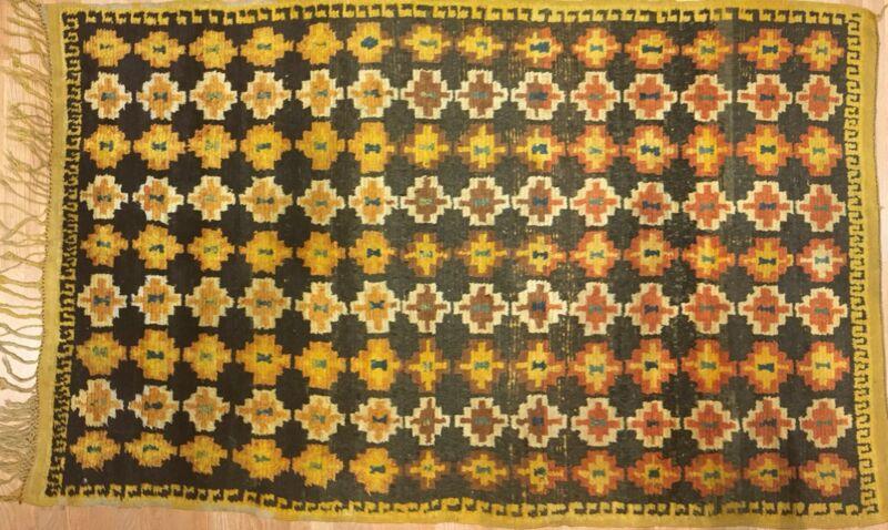 Marvelous Moroccan - 1940s Antique Tribal Rug - Colorful Carpet - 4.8 X 7.5 Ft.