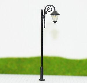 LYM37 10pcs Model Railway Train Lamp Post Street Lights HO OO Scale LEDs NEW