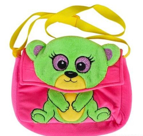 "10"" BEAR MESSENGER PAL PLUSH PURSE. GIRLS PINK BAG. SOFT. NWT"