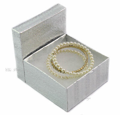 Best Deal Lot Of 100 Silver Cotton Filled Box Jewelry Box Party Box Large 2h