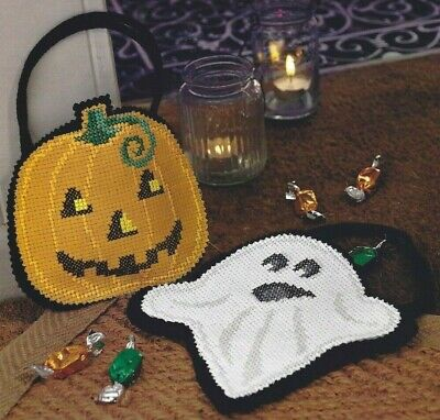 Halloween Ghost & Pumpkin Card & Homemade Jam Cross Stitch Pattern (a1b0c84)](Halloween Homemade Cards)