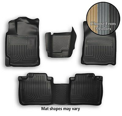 Husky WeatherBeater Front, Rear, Center Hump Mats All Weather Liners - 3 Colors