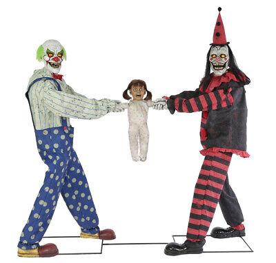 Pre-Order New For 2019 Lifesize Animated CREEPY CLOWN TUG OF WAR Halloween Prop (Creepy Halloween Clowns)
