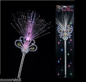 LIGHT UP FAIRY WAND Girls Princess Fairytale Pixie Magic Party Dress Up Costume