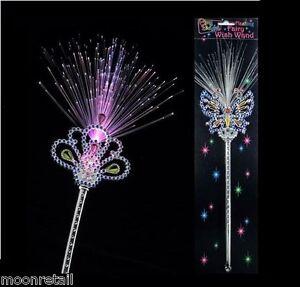 LIGHT UP FAIRY WAND Girls Princess Fairytale Pixie Magic Party Dress Up Costume
