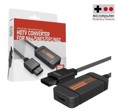 Adaptador HDMI Super Nintendo 64, GameCube, Super Famicom. HDMI adapter N64 SNES