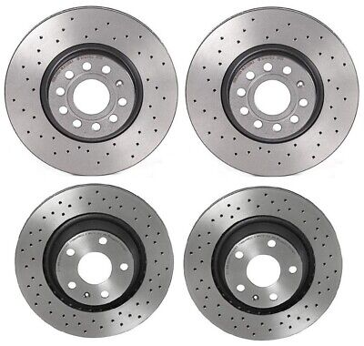 Brembo Xtra Front Rear Brake Disc Rotors Drilled Coated Kit For Audi TT Quattro