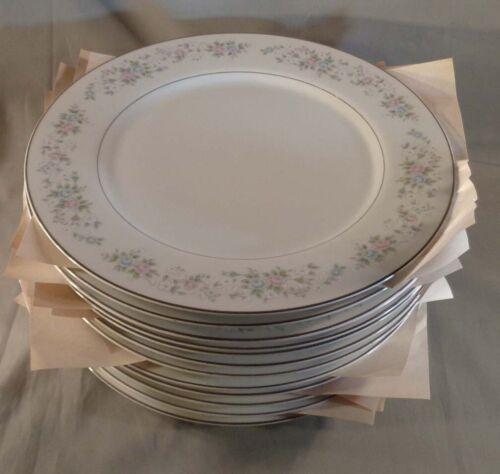 "Set of 12 Carlton China Corsage 481 10-1/2"" Dinner Plates Japan"
