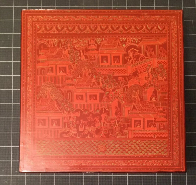 Burmese Handmade Lacquer Red Box Betel Storage Container