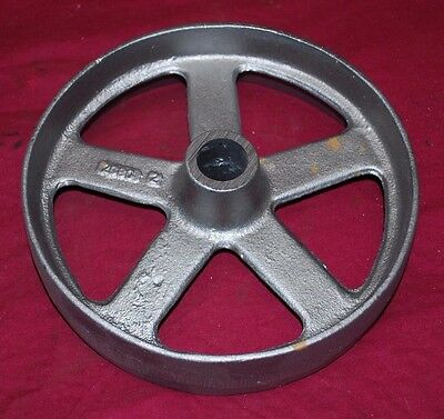 9 Inch Hit Miss Witte Gas Engine Flywheel Engine Cart Wheel Cast Iron