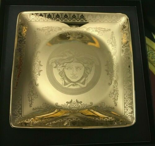 VERSACE ASH TRAY MEDUSA GOLD LUXURY LOVER BIRTHDAY PRESTIGE GIFT HOME DECOR NEW