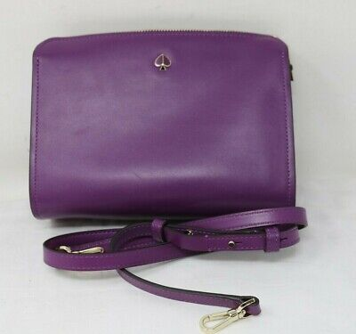 Kate Spade Purple Leather Handbag With Shoulder Strap Very Good condition   (C1)