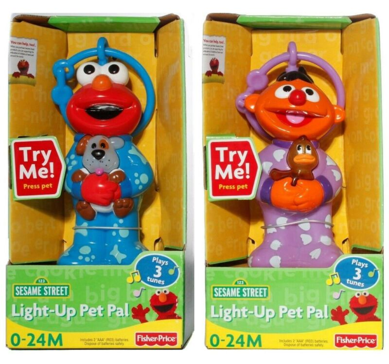 Elmo with Dog Baby Toy Sesame Street Light-Up Pet Pals 0-24 Months