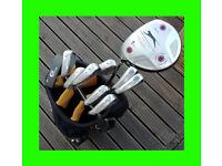 Left Handed Golf Club Set (Wilson Staff Di7 Irons & more) + Bag (Fazer)