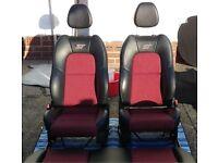 Ford Fiesta ST half leather seats